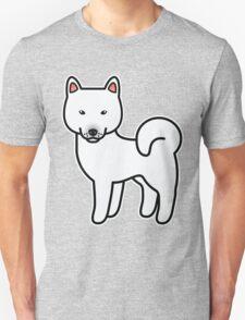 White Shiba Inu Dog Cartoon T-Shirt