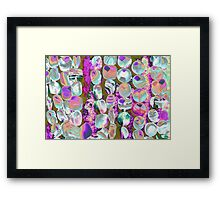 abstract colored stones Framed Print