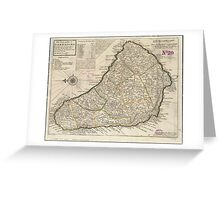 Vintage Map of Barbados (1736)  Greeting Card