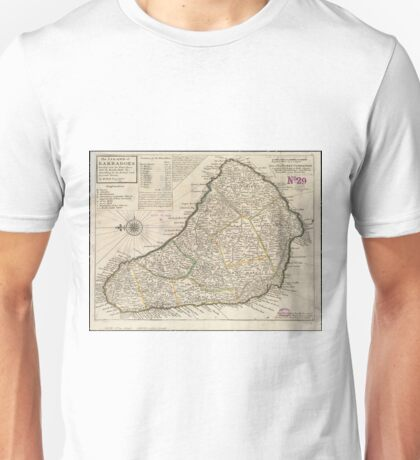 Vintage Map of Barbados (1736)  Unisex T-Shirt