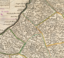 Vintage Map of Barbados (1736)  Sticker