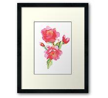 Water Color Roses Framed Print