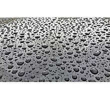 Water Droplets Waxed Car Photographic Print