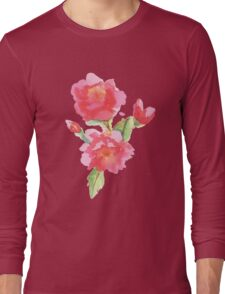 Water Color Roses Long Sleeve T-Shirt