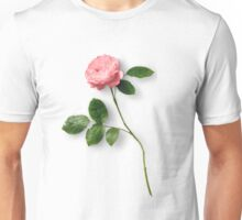 Long Stem Single Pink Rose Unisex T-Shirt