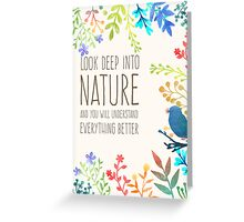 Inspirational Quote + Watercolor Nature  Greeting Card
