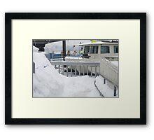 Docked in Ice Framed Print