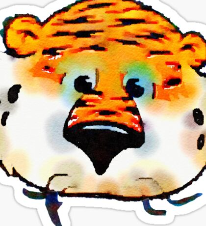 Aubie Face Auburn University Water color Sticker