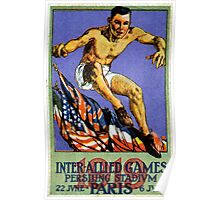 1919 Allied Games in Paris Poster