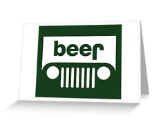 Beer Jeep Greeting Card