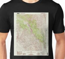 USGS TOPO Map California CA Cerro Gordo Peak 100032 1987 24000 geo Unisex T-Shirt