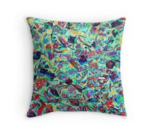 abstract colored stones Throw Pillow