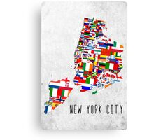 United Flags of New York City Canvas Print