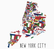 United Flags of New York City by icoNYC