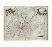 Vintage Map of Stockholm (1733) T-Shirt