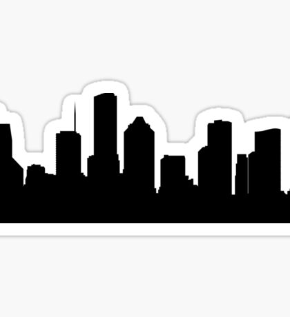 Houston skyline Sticker