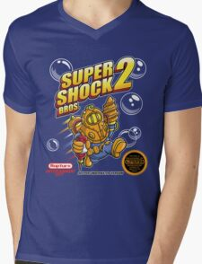 Super Shock Bros 2 Mens V-Neck T-Shirt