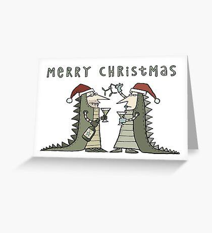 An Iguana Fancy Dress Christmas Greeting Card