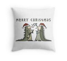 An Iguana Fancy Dress Christmas Throw Pillow