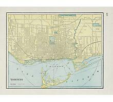 Vintage Map of Toronto (1901)  Photographic Print