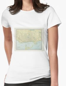 Vintage Map of Toronto (1901)  Womens Fitted T-Shirt