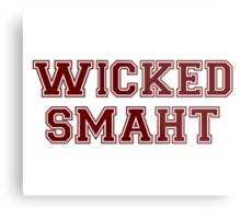 Wicked Smart (Smaht) College Boston Metal Print