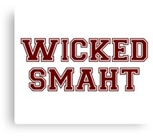 Wicked Smart (Smaht) College Boston Canvas Print