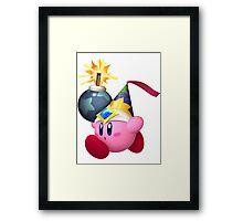Bomb Kirby Framed Print