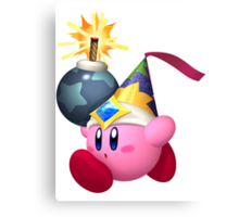 Bomb Kirby Canvas Print