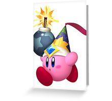Bomb Kirby Greeting Card