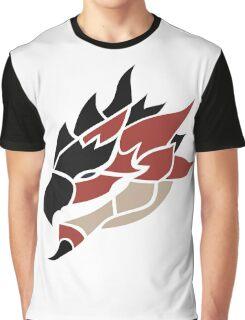 Monster Hunter - Rathalos Head Graphic T-Shirt