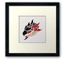 Monster Hunter - Rathalos Head Framed Print