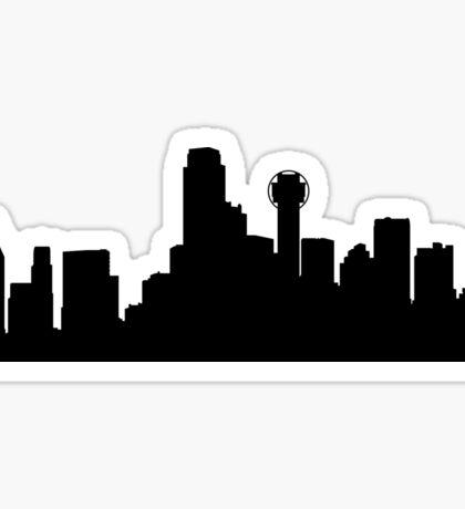Dallas skyline Sticker