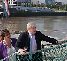 Mayor Boris Johnson marks Totally Thames with visit to TS Tenacious by Keith Larby
