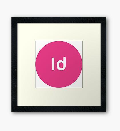Adobe CC InDesign Circles Framed Print