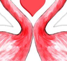 I Love Flamingos Sticker
