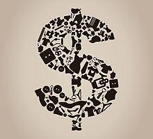 Clothes dollar by Aleksander1