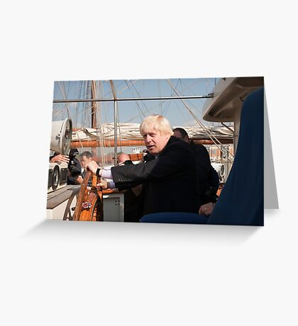 Mayor Boris Johnson marks Totally Thames with visit to TS Tenacious Greeting Card