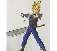 Cloud Strife- SSB Photographic Print