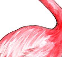 Flamingo Watercolor Art Sticker