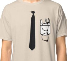 Funny Nerd shirt pocket protector and glasses Classic T-Shirt