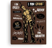 Groot Famous Quotes Canvas Print
