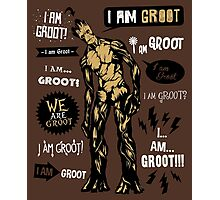 Groot Famous Quotes Photographic Print