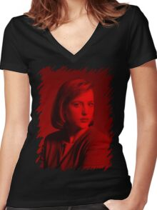 Gillian Anderson - Celebrity Women's Fitted V-Neck T-Shirt