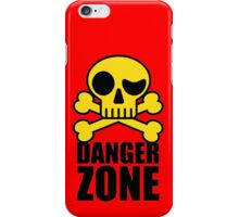 Danger Zone - Skull and Crossbones iPhone Case/Skin