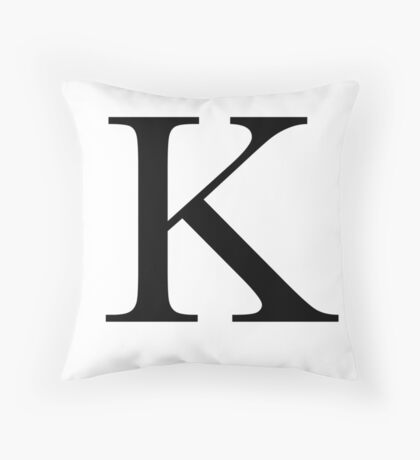 The Letter 'K' Throw Pillow