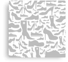 Footwear a background Canvas Print