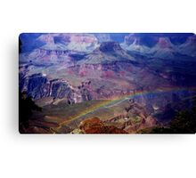 Arizona, Grand Canyon's rainbow Canvas Print