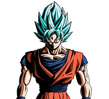 Son Goku Super Saiyan Blue Photographic Print