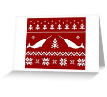 Ugly Narwhal Christmas Sweater Greeting Card